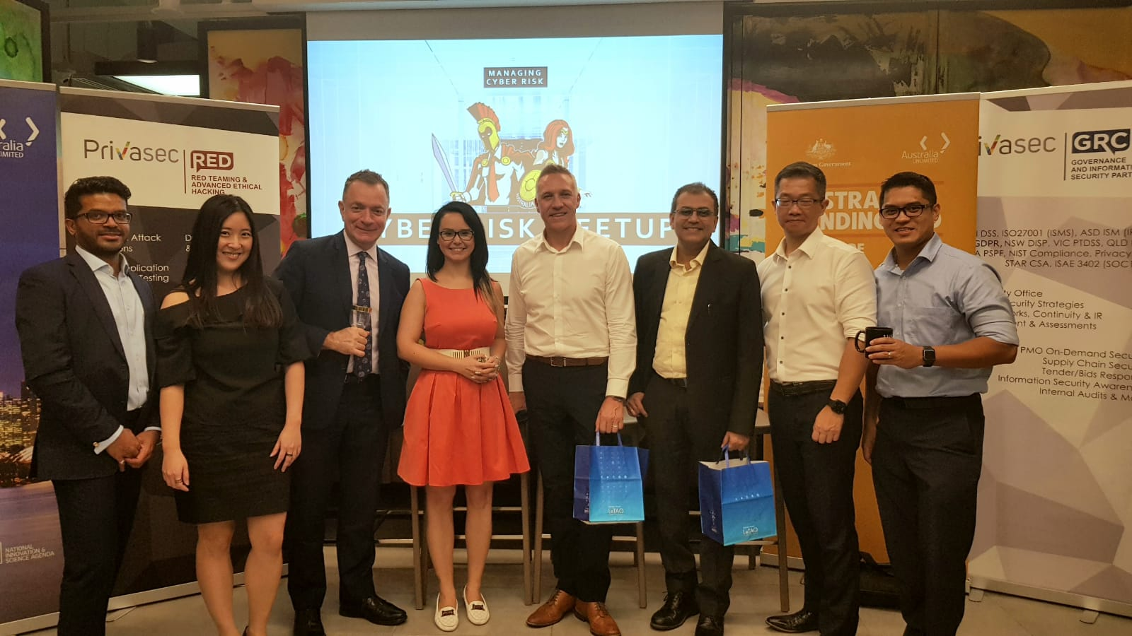 """Managing Cyber Risk"""" and A Welcome to Cohort 8 to the Australian"""