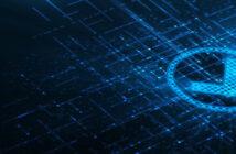 IoT Certification Tick, blue